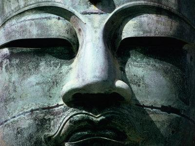 Face of Daibutsu (Great Buddha) Statue, Kamakura, Japan