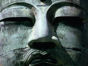 Face of Daibutsu (Great Buddha) Statue, Kamakura, Japan by Martin Moos