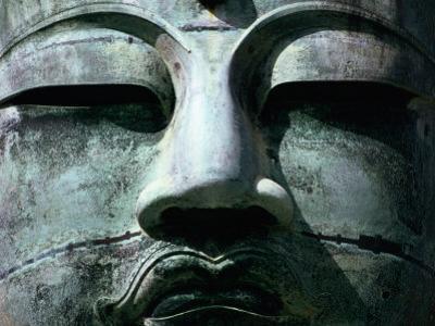 Face of Daibutsu (Great Buddha) Statue, Kamakura, Japan