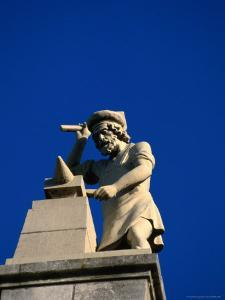 Figure of a Blacksmith on the Roof of the Rijksmuseum, Amsterdam, Netherlands by Martin Moos