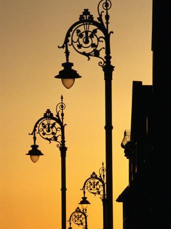 Georgian Lanterns at Sunset, Dublin, Ireland