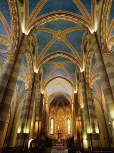 Interior of St. Lorenzo Cathedral, Alba, Italy by Martin Moos