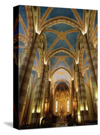 Interior of St. Lorenzo Cathedral, Alba, Italy