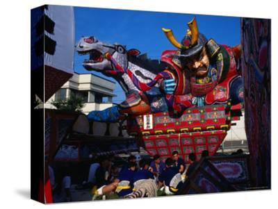 Men Carrying Rice Paper Float for Neputa Matsuri Festival, Aomori, Japan