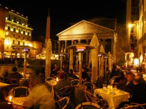 Outdoor Dining Near Pantheon, Rome, Italy by Martin Moos