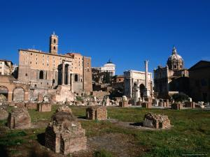 Roman Forum Ruins in the Early Morning, Rome, Italy by Martin Moos