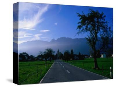 Ruggell village and Swiss mountains, Ruggell, Liechtenstein