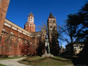 St Andrea Church/Abbey and Campanile with St. Eusebio Dome Cathedral in Distance, Vercelli, Italy by Martin Moos
