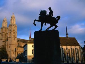 Statue of General Waldmann/Grossmunster, Zurich, Switzerland by Martin Moos