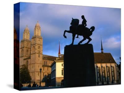 Statue of General Waldmann/Grossmunster, Zurich, Switzerland