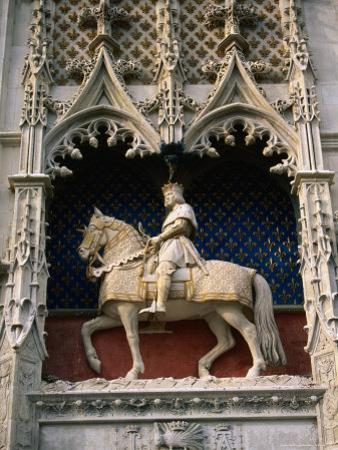Statue of Louis Xii and His Horse at Chateau De Blois, Blois, France