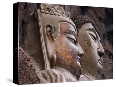 Sui Dynasty Seated Sakyamuni Buddha (Right) and Attending Bodhisattva (Left)