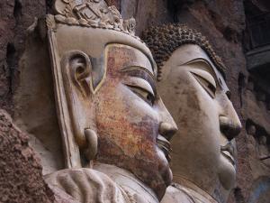 Sui Dynasty Seated Sakyamuni Buddha (Right) and Attending Bodhisattva (Left) by Martin Moos