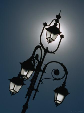 Sunlight Behind Lamp Post, Casale Monferrato, Italy