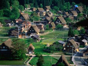 Thatched Gassho-Zukuri Houses in Shirakawa-Go Gassho-No-Sato Village, Ogimachi, Japan by Martin Moos