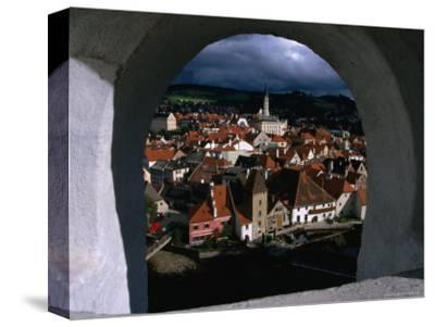 The Old Town from Krumlov Castle Tower, Cesky Krumlov, South Bohemia, Czech Republic