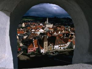 The Old Town from Krumlov Castle Tower, Cesky Krumlov, South Bohemia, Czech Republic by Martin Moos