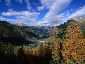 Town of Zernez in Inn Valley of the Swiss National Park, Zernez, Graubunden, Switzerland by Martin Moos