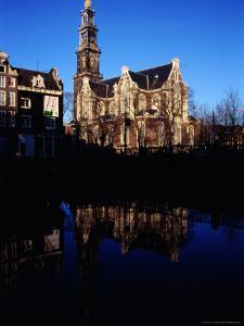 Westerkerk and Keizersgracht Canal, Amsterdam, Netherlands by Martin Moos