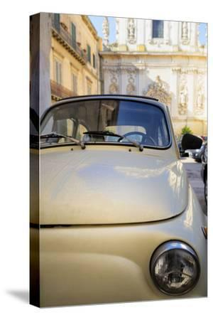 Old Fiat in the Baroque City of Lecce, Puglia, Italy, Europe
