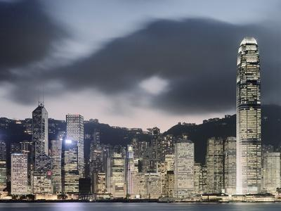Hong Kong Skyline and financial district at dusk