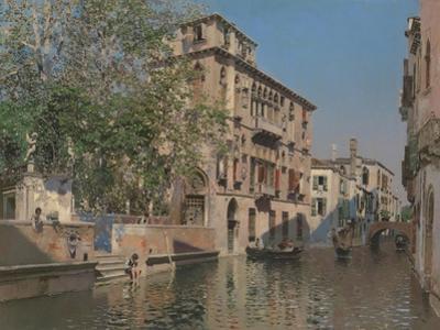 A Canal in Venice, c.1875 by Martin Rico y Ortega