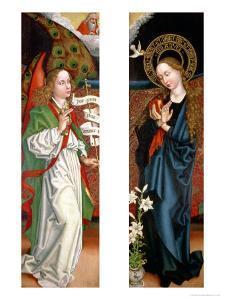 Annunciation by Martin Schongauer