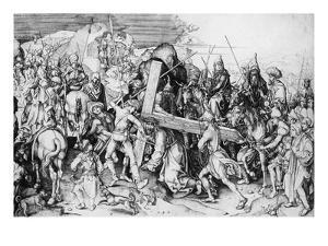 Christ Bearing His Cross, C.1475 (Engraving) by Martin Schongauer