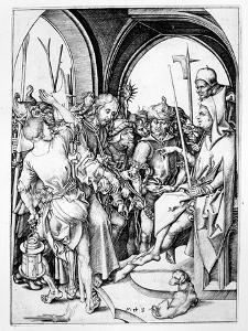 Christ before Annas (Engraving) by Martin Schongauer