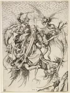 La Tentation de saint Antoine by Martin Schongauer