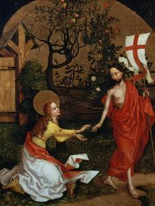 Polyptych of the Dominicans: Panel with the Noli me tangere by Martin Schongauer