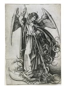 Saint Michel terrassant le dragon by Martin Schongauer
