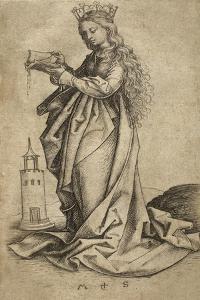 St. Barbara by Martin Schongauer