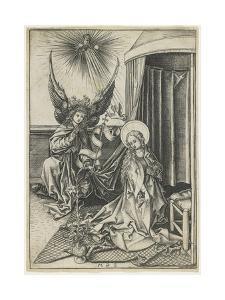 The Annunciation, C. 1480 by Martin Schongauer