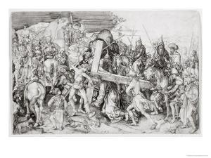 The Great Bearing of the Cross, c.1474 by Martin Schongauer