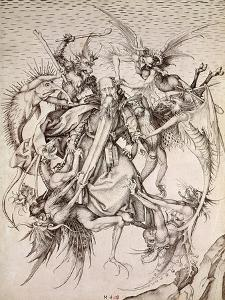 The Temptation of St. Anthony by Martin Schongauer