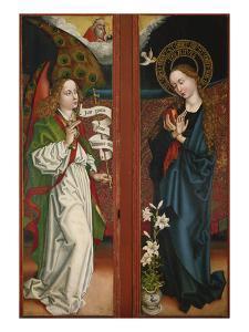 Verkuendigung Mariae. Fluegel Vom Orlier- Altar, 1465/1479 by Martin Schongauer