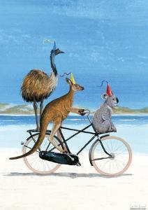 Aussie Beach Bike Poster by Martin van der Linden