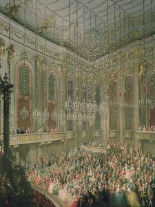 Recital by the Young Wolfgang Amadeus Mozart in the Redoutensaal by Martin van Meytens