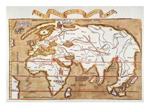 Waldseemuller: World Map by Martin Waldseemuller
