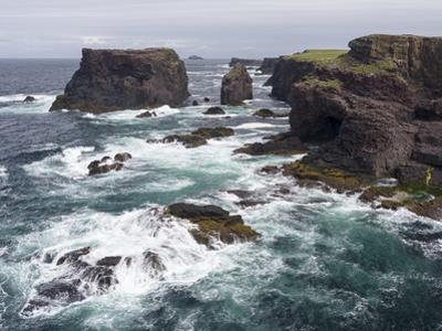 Famous Cliffs and Sea Stacks of Esha Ness, Shetland Islands by Martin Zwick