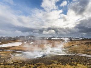 Geothermal Area Seltun Heated by the Volcano Krysuvik on Reykjanes Peninsula During Winter by Martin Zwick