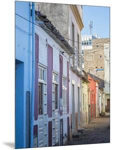 Houses in Plato. The capital Praia on the Ilha de Santiago, Cape Verde. by Martin Zwick