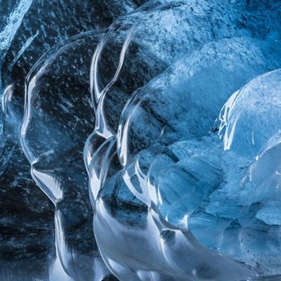 Ice Cave in the Glacier Breidamerkurjokull in Vatnajokull National Park by Martin Zwick