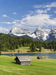 Karwendel Mountain Range, Mittenwald, Lake Wagenbruch, Bavaria by Martin Zwick