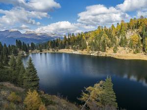 Lago del Colbricon in nature park Paneveggio in the dolomites of Trentino by Martin Zwick
