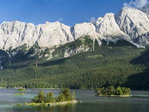 Lake Eibsee with Mt. Zugspitze, Bavaria, Germany by Martin Zwick