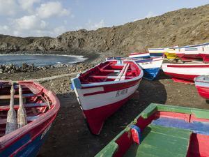 Traditional fishing boats near Las Salinas. Fogo Island (Ilha do Fogo), part of Cape Verde by Martin Zwick