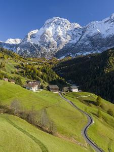 Traditional Mountain Farms Clustered in Hamlets Called Viles in Gader Valley, Alto Adige by Martin Zwick