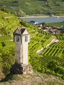 Wayside Shrine Near Old Town Gate Rote Tor in the Village Spitz, in the Vineyards of the Wachau by Martin Zwick